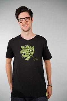T-Shirt Herren schwarz   Löwe
