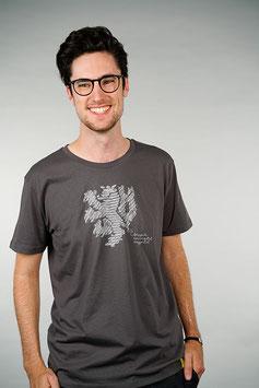 T-Shirt Herren anthrazit   Löwe