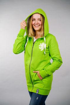 Limited Edition: Kapuzen-Zipper grün   Löwe