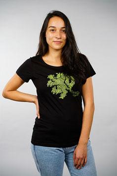 T-Shirt Damen schwarz   Löwe