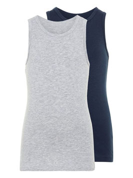 Name it 2er Pack Tanktop blau/grau