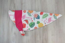 "Sonnentuch mit Schirm ""Tropical Flamingo"""