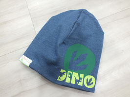 "Winter Beanie ""Jeans hell, Dino Tatze "" Mit Name"