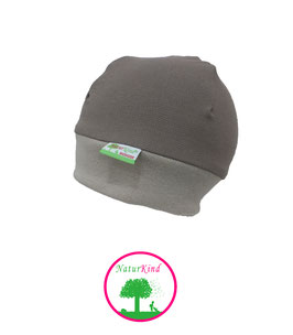 "Bündchen Beanie ""Jeans taupe, Uni taupe"""