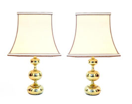 Pair of Philippe Barbier table lamps for Hustadt-Leuchten, W.Germany, 1970s