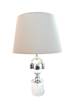 Philippe Barbier Chrome Table Lamp Manufactured by Solken Leuchten, W.Germany, circa 1975