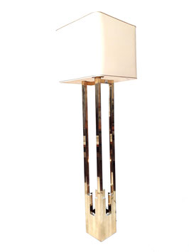 Willy Rizzo Bicolor Floor Lamp for Lumica, Italy, early 1970s