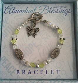 Armband Abundant blessings, hope and faith