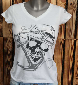 Skull Lady White