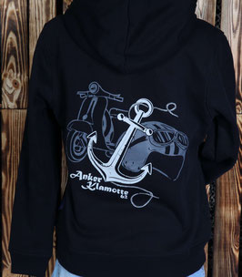 Vintage Scooter Zip Hoody Lady Black