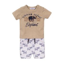 Dirkje 2 pce babysuit shorts Elephant Boys