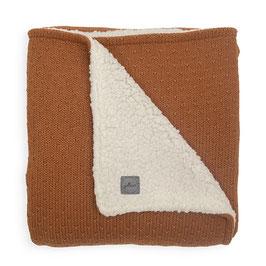 Jollein Deken Teddy 100x150cm Bliss Knit Caramel