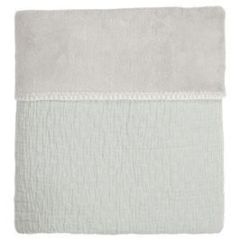 Koeka Wiegdeken Elba Teddy Soft Leaf / Silver Grey