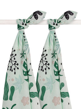 Jollein Hydrofiel Multidoek Large 115x115cm Leaves (2pack)