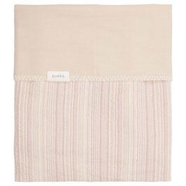 Koeka Ledikantdeken Maui Flanel Old Pink / Soft Sand