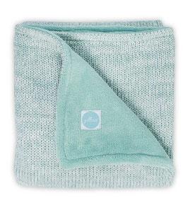 Jollein Deken 100x150cm Melange Knit Soft Green/Coral Fleece