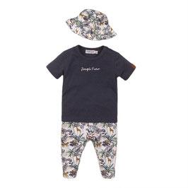 Dirkje 2 pce babysuit trousers + hat Boys