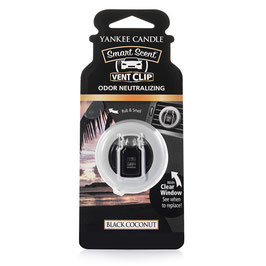 Black Coconut Car Vent Clip