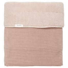 Koeka Wiegdeken Teddy Vik Grey Pink