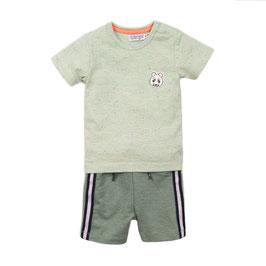Dirkje 2 pce babysuit shorts Sage Boys