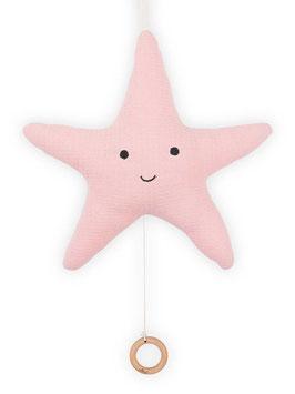 Jollein Muziekhanger Zeester Tiny Waffle Soft Pink