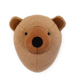 Childhome Dierenkop Teddybeer - Vilt - Muurdecoratie
