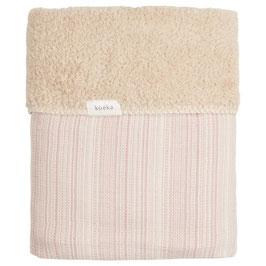 Koeka Ledikantdeken Maui Teddy Old Pink / Soft Sand