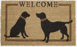 Deurmat Kokos Honden 2 Welcome