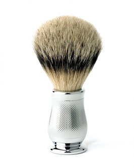 EJ Chatsworth Chrome, Shaving Brush, Barley , Silver Tip