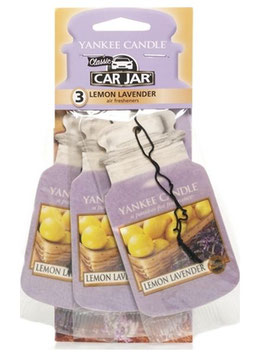 Lemon Lavender Car Jar 3-Pack