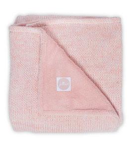 Jollein Deken 100x150cm Melange Knit Soft Pink/Coral Fleece