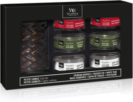 WW Deluxe Gift Set Six Petite Candles & Holder Autumn/Winter