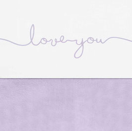 Jollein Laken 75x100 cm Love You Lilac