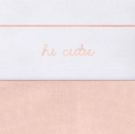 Jollein Laken 75x100 cm Hi Cutie Pale Pink