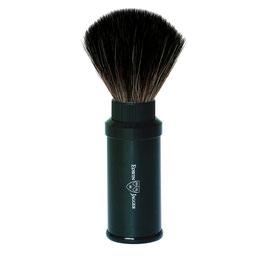 EJ Travel, Shaving Brush, Synthetic, Aluminium Black