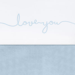 Jollein Laken 75x100 cm Love You Soft Blue