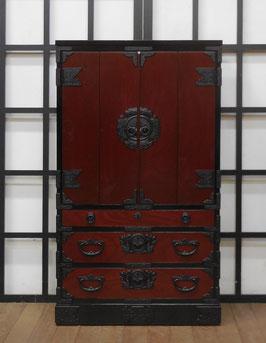 岩谷堂箪笥 仏壇 赤黒