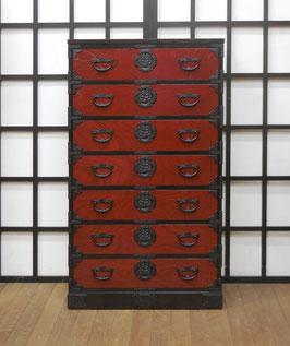 岩谷堂箪笥 赤黒帯箪笥