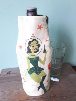 Kühlhusse für Wein- und Sektflaschen Space Girl