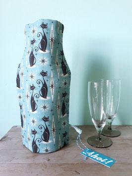 Kühlhusse für Wein- und Sektflaschen Atomic Cat blau