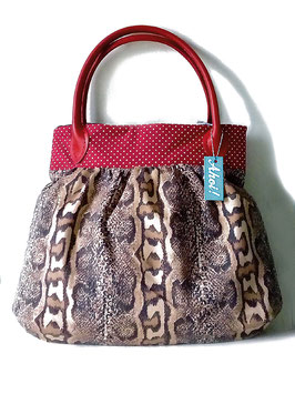 Pin Up Bag SNAKE DOTTIE Schlange rot Polka Dots