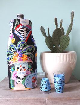 Kühlhusse für Wein- und Sektflaschen Calavera Sugar Skulls