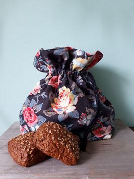 3 in 1 Vintage Rosen Brötchentüte / Nachhaltiger Einkaufsbeutel für Brot