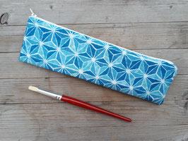 Federtasche Asanoha blau
