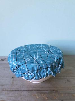 Food Hood bis 16 cm Durchmesser, Atomic Age Striche grafisch taubenblau