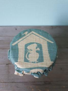 Food Hood für Gurken, Zwiebeln und Zitrusfrüchte, Vintage Doggie Hund hellblau