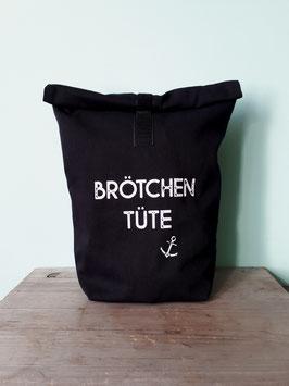 Brötchentüte / Nachhaltiger Einkaufsbeutel für Brot, schwarz