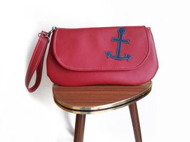 Clutch ANCHOR GIRL rot Anker  vegan