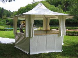 Verkaufsstand Sechseck Pagode 10,5 m²