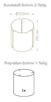 Lampenschirm Tuli 1956/1971 Ø55-58cm